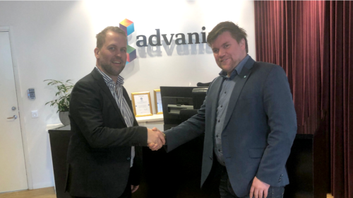 Handshake between App4mation and Advania director